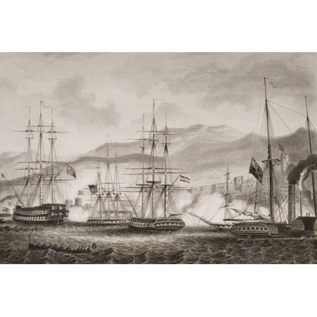 Attack On Sidon By Commodore Charles Napier September 1840Engraved G Greatbach After GW Terry From Englands Battles By Sea And Land By Lieut Col Williams The London Printing And Publishing Company Cir