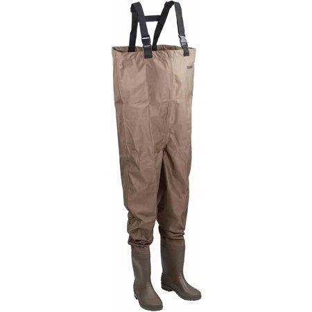 Hodgman mackenzie cleated bootfoot chest fishing waders for Walmart fishing waders