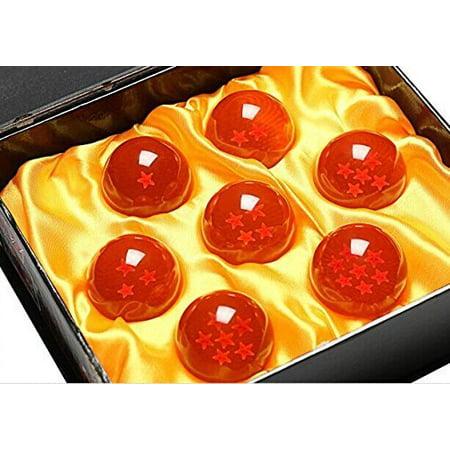 HG-X Set of 7 PCS Acrylic Dragon Ball Crystal Ball Wth Elegant Gift Box (Small Size 4.3cm)