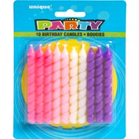 Product Image Spiral Birthday Candles Pink Purple