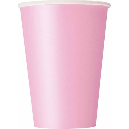 Paper Cups, 12 oz, Light Pink, 10ct for $<!---->