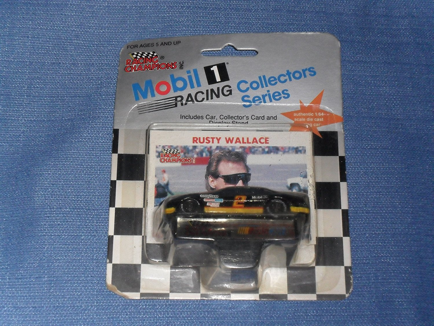 1991 Racing Champions . . . Rusty Wallace #2 Mobil 1 Pontiac 1 64 Diecast . . . Includes... by