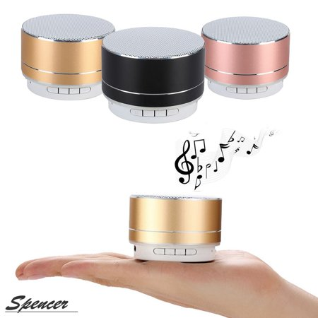 Ipod Iphone Stereo System - Spencer Portable Wireless Bluetooth Mini Speaker Built in TF Card Slot Super Bass Mini Stereo for iPhone iPod & Android System Etc.