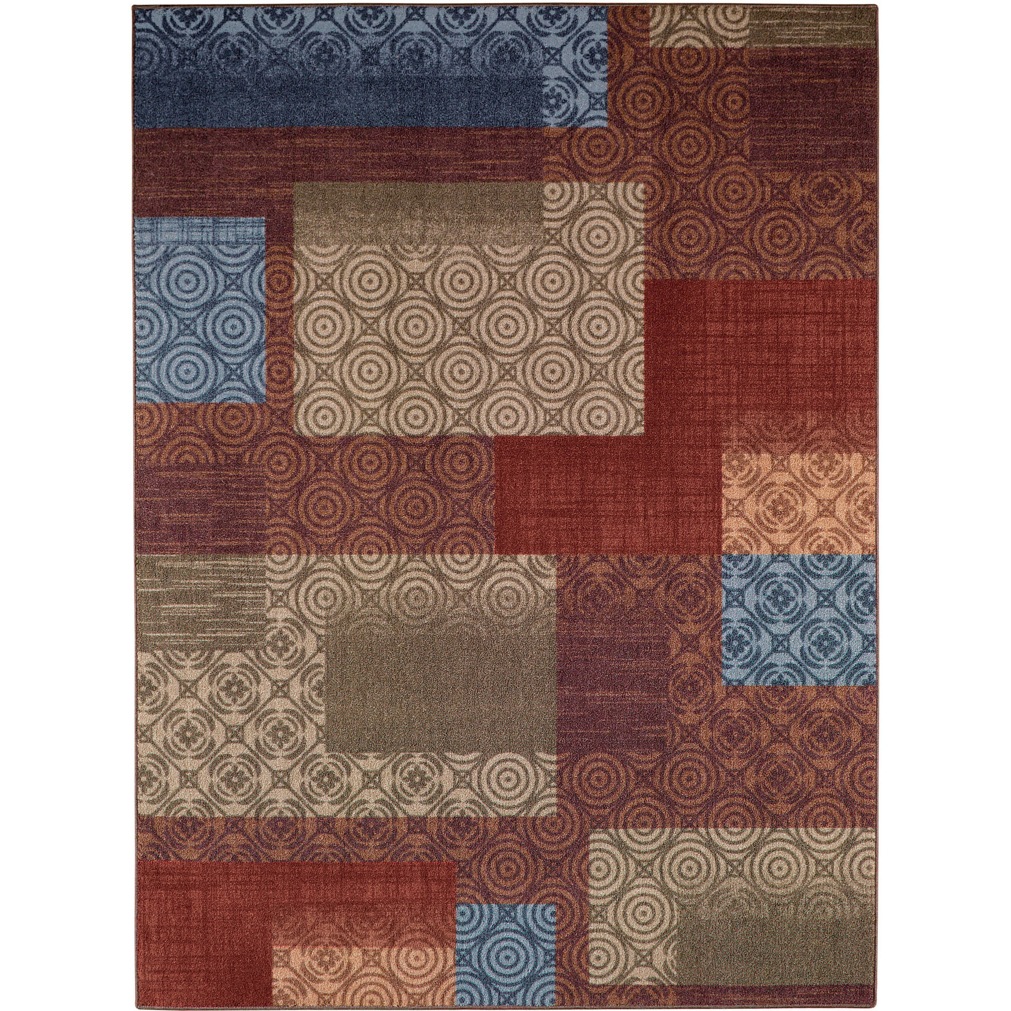 Mainstays Payton Nylon Area Rugs or Runner, Available in 5' x 7', 7' x 10', and more sizes for Living Room, Family Room, Bedroom, Hallway, Non Skid for small rugs, Washable and Spot Clean