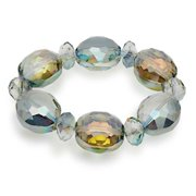 BLUE-BVG-CT Vienna Gorgeous Glass Bracelet - Crystal Tabac