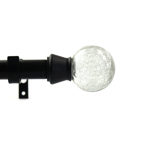 Urbanest Crackle Single Curtain Rod and Hardware Set by