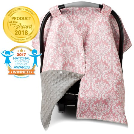 Superb Kids N Such 2 In 1 Car Seat Canopy Cover With Peekaboo Opening Large Carseat Cover For Infant Carseats Best For Baby Girls Use As A Nursing Forskolin Free Trial Chair Design Images Forskolin Free Trialorg