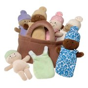 Basket Of Babies Set Of 6