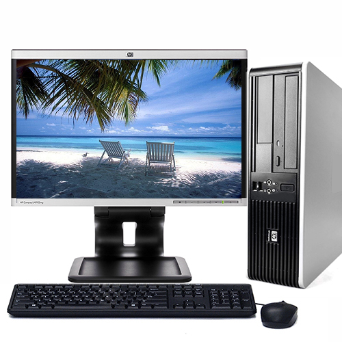 "HP Desktop PC Tower System Windows 10 Intel Core 2 Duo Processor 4GB Ram 160GB Hard Drive DVD Wifi with a 17"" LCD and Keyboard and Mouse-Refurbished Computer"
