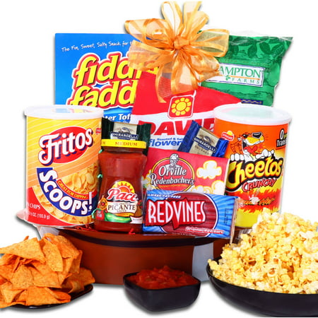 Alder Creek Football Party Snack Gift Basket, 10 pc