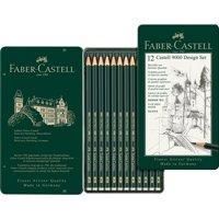Castell 9000 Graphite Pencil Set In Metal Tin 12/Pkg-