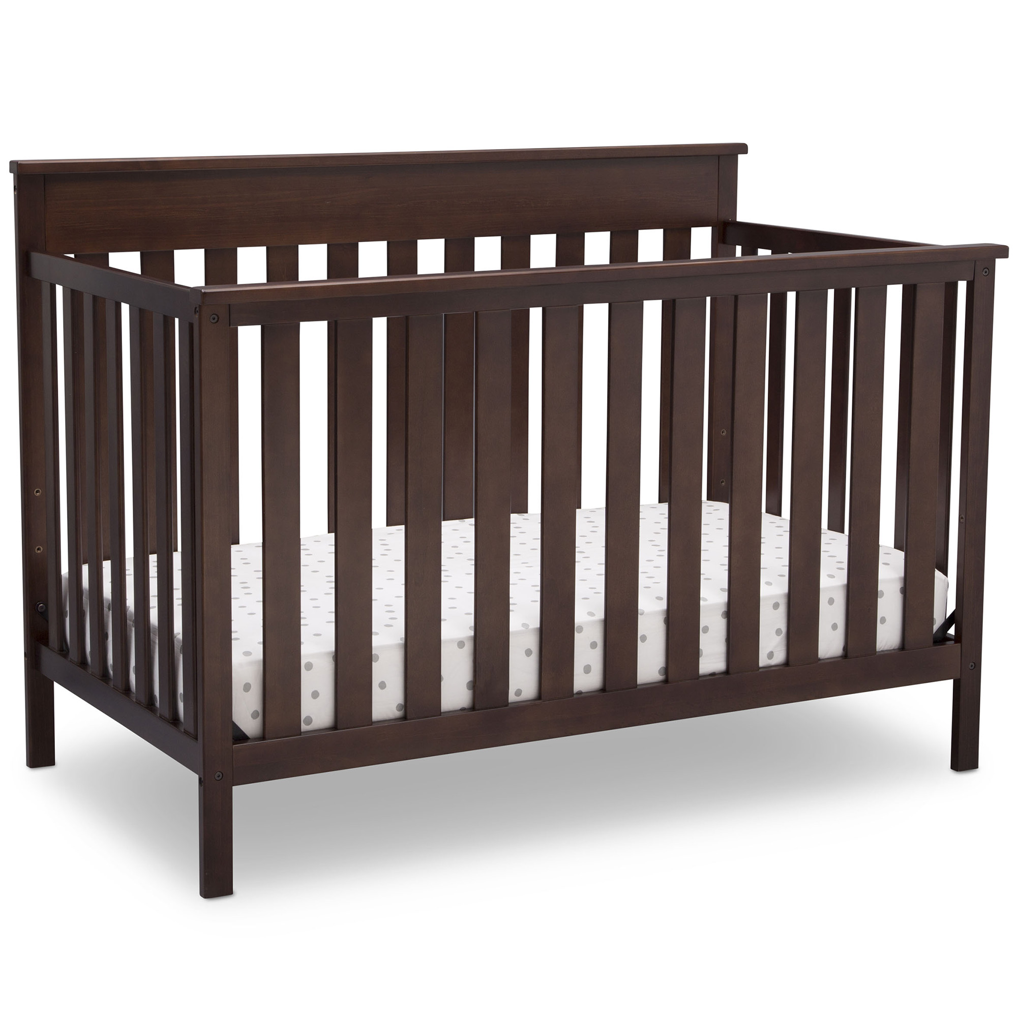 Best Baby Cribs - Delta Children Kingswood 4-in-1 Convertible Baby Crib, Walnut Review