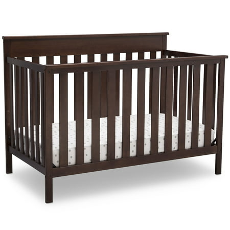 Delta Children Kingswood 4-in-1 Convertible Baby Crib, Walnut