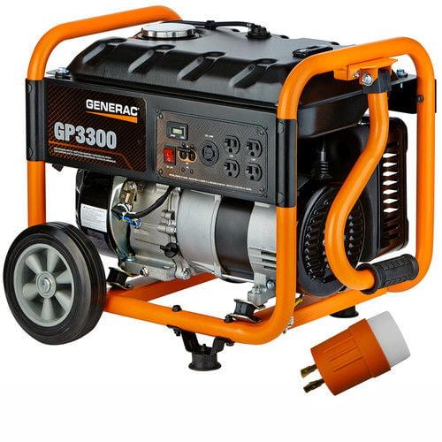 Gp 3300-Running-Watt Portable Generator With Generac Engi...