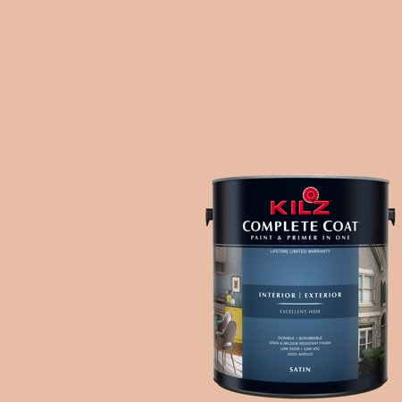 KILZ COMPLETE COAT Interior/Exterior Paint & Primer in One #LB210-01 Crushed Shell