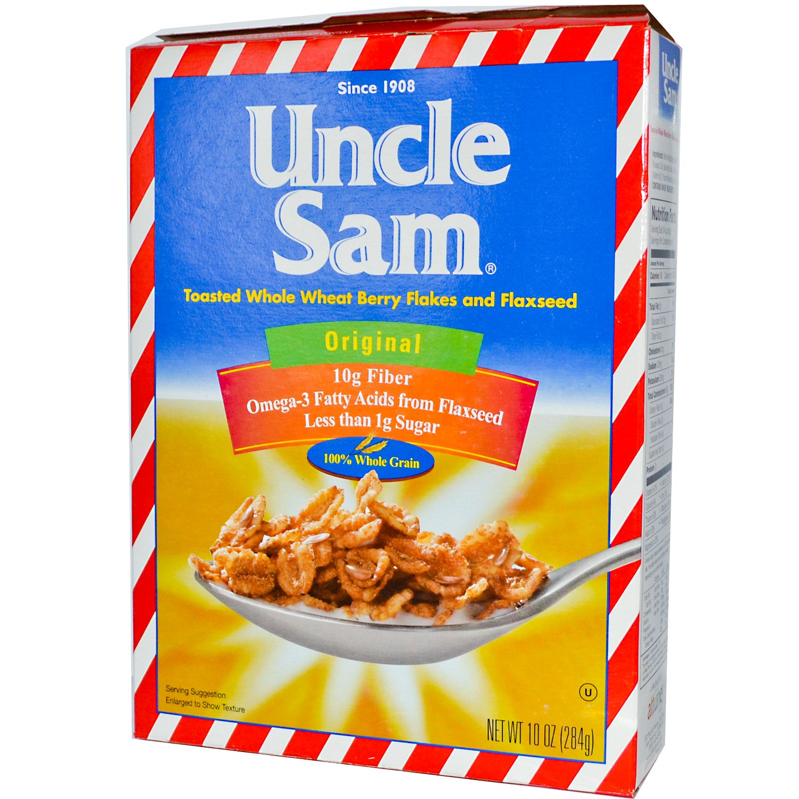 U.S Mills, Uncle Sam Cereal, Toasted Whole Wheat Berry Fl...