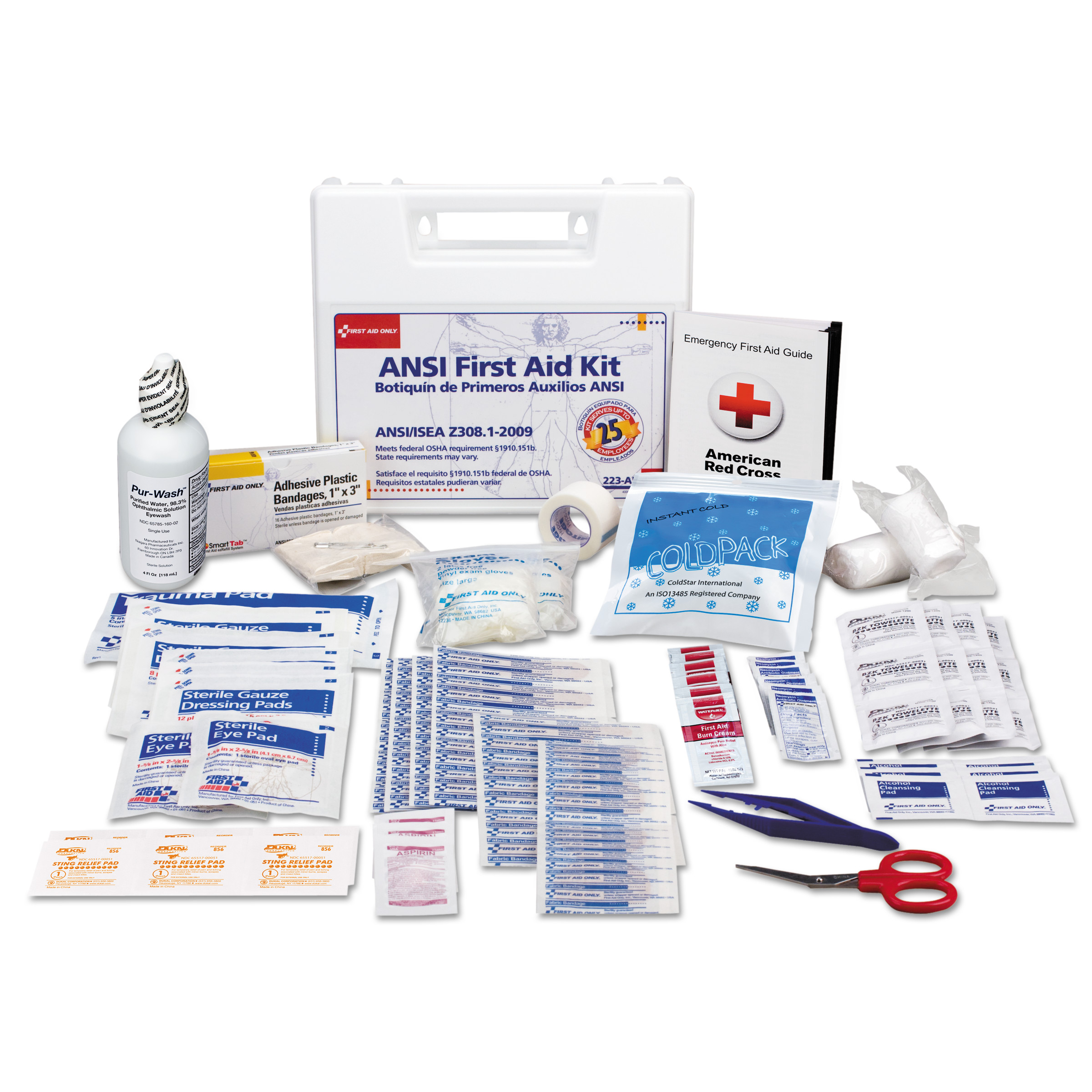 106 Piece Refill For Bulk 25 Person First Aid Kits: 223-U- 223-G & 224-U- 1 Ea. by FIRST AID ONLY, INC.