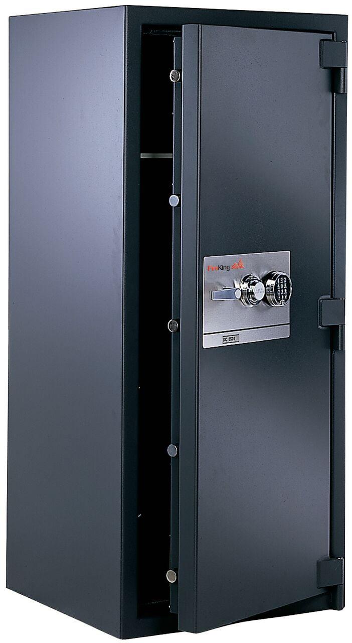 Kc6033 Zgr 1 Hour Fireproof Safe Mechanical Combination Lock 4 Shelf Graphite File Cabinet With Hard Plate Walmart Com