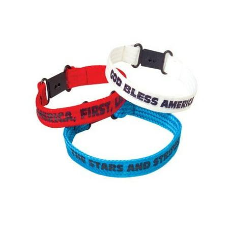 Patriotic Bracelets - 12 per pack
