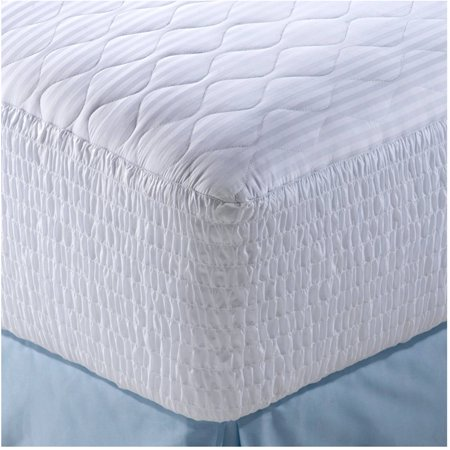 Image of 500 Thread Count Mosaic Cotton Mattress Pad with stain-release protection