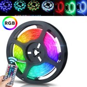 EEEkit 16.4ft 5M LED Strip Lights Kit, 300 LEDs Color Changing RGB Light Strips, IP65 Flexible Light Strip Kit with 44 Key Remote Controller and 12V 2A Power Supply for Indoor Outdoor Home Decor