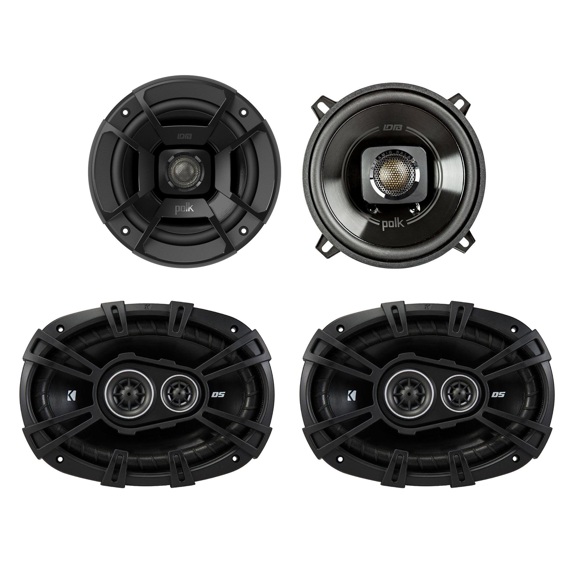 "Polk Audio 5.25"" 300W Car/Marine ATV Speakers, Pair + 6 x 9"" 360W Speakers, Pair"
