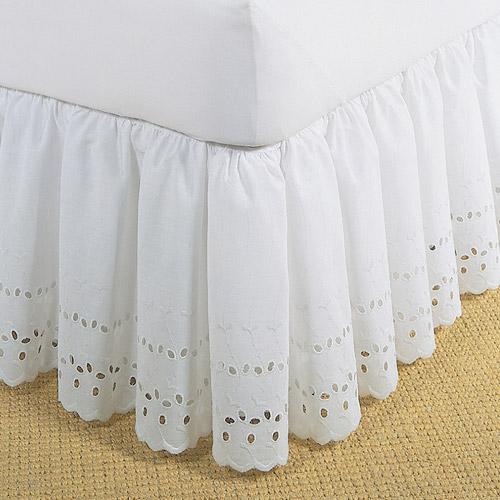 Levinsohn Eyelet Ruffled Bedding Bed Skirt
