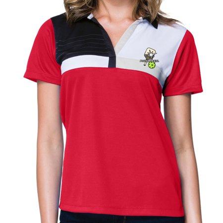 Womens Pickleball Polo Shirt Black White Large Walmart Canada