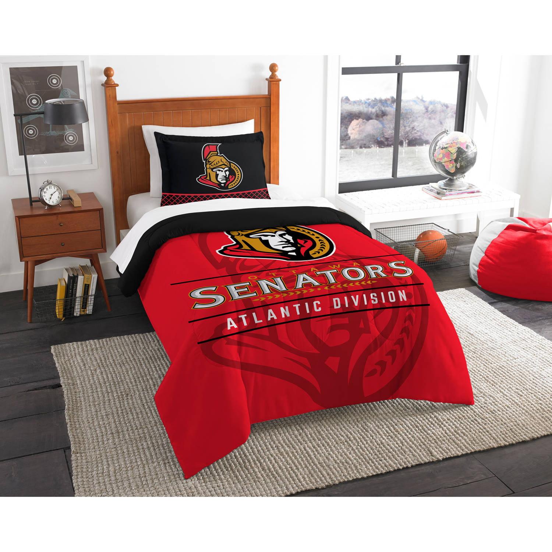 "NHL Ottawa Senators ""Draft"" Bedding Comforter Set"