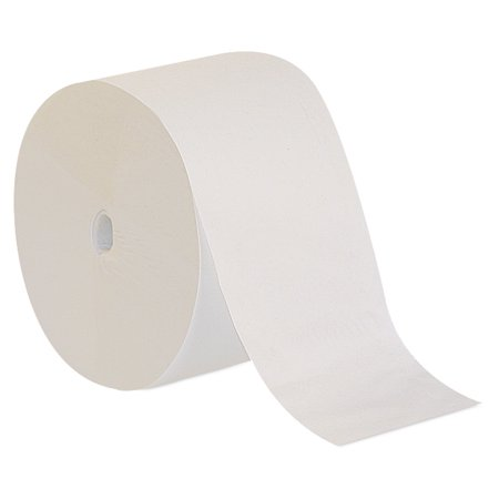 Georgia Pacific Professional Compact Coreless One-Ply Toilet Paper, White, 3000 Sheets/Roll, 18Rolls/Carton Coreless Two Ply Standard Roll