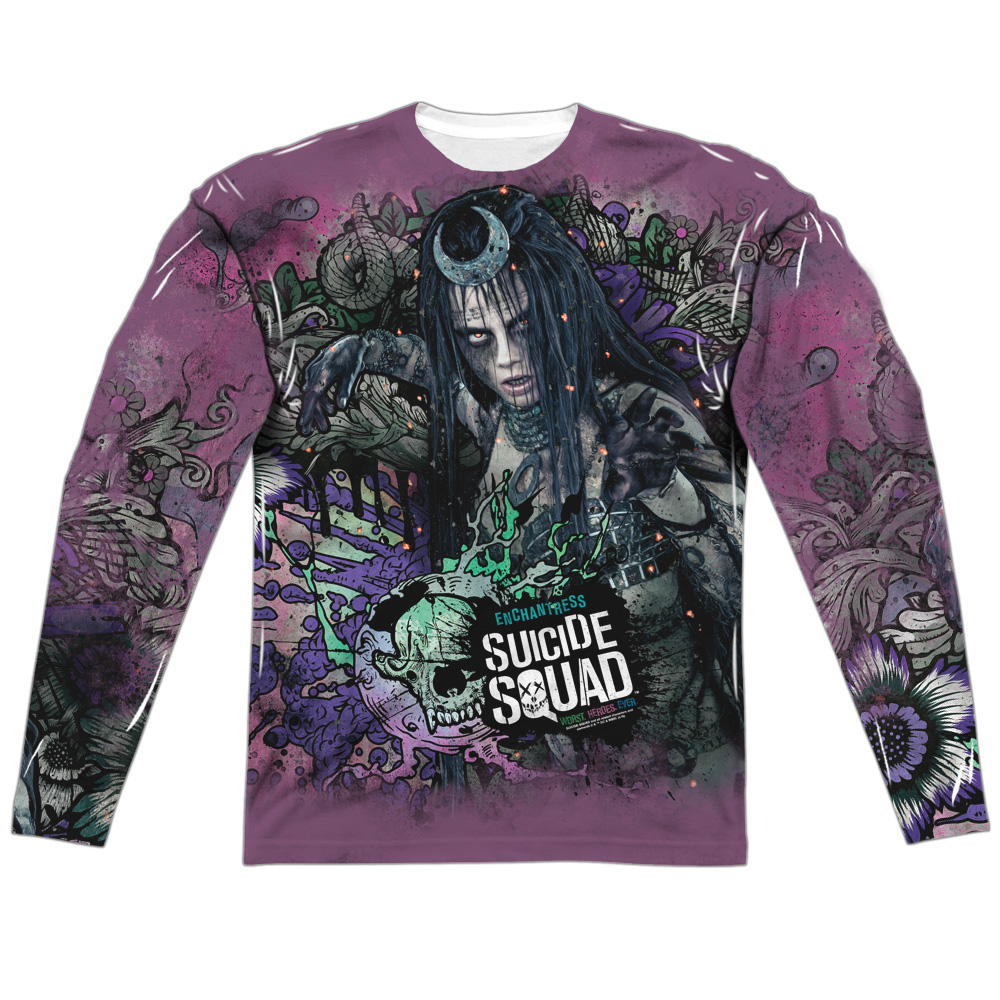 Suicide Squad Enchantress Psychedelic Cartoon (FB Print) Mens LS Sub Shirt