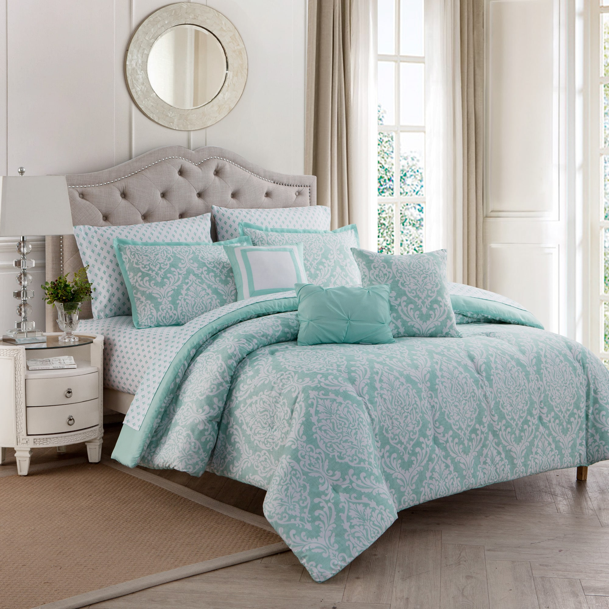Hyde Damask 10pc Comforter Set