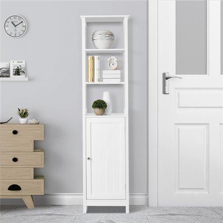 Yaheetech Floor Cabinet Multifunctional Bathroom Storage Cabinet 3 Tier Organizer Rack Stand Free 2 Layers Standing Shelf ()