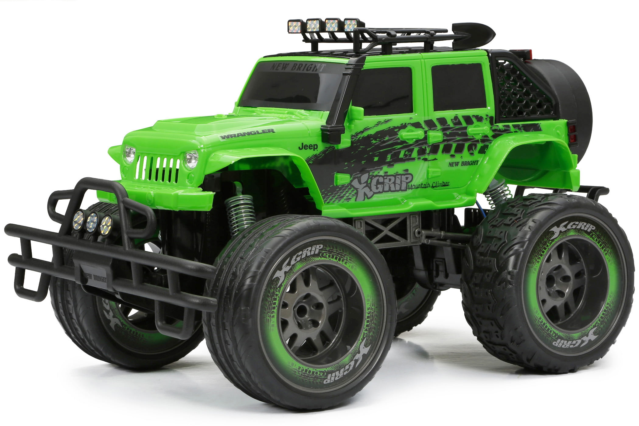 New Bright 1:10 RC 2.4GHz Radio Control 9.6V Jeep Green by New Bright