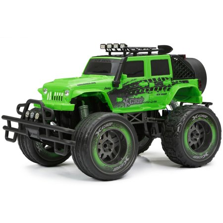 New Bright 1 10 Rc 2 4ghz Radio Control 9 6v Jeep Green Walmart Com