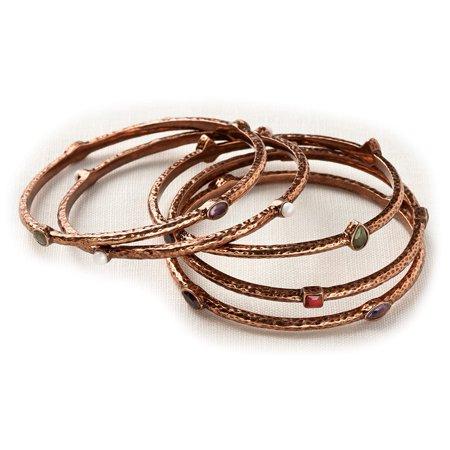 Bronze Bangle Bracelet (Demdaco Trailwinds Bronze Multi Stone Bangles Bracelets Set of)