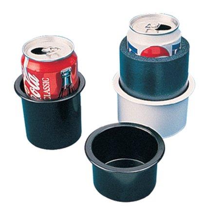 "Sea Dog Flush Mount Drink Holder, 2"" Deep, Black, 3"" Hole Required"