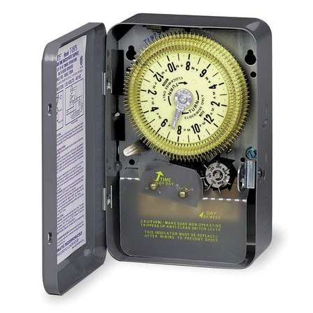 Intermatic Electromechanical Timer, 24-Hour, Multioperation, T1905