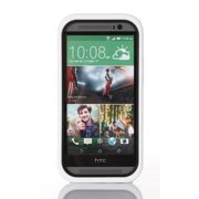 GearIT HTC One M8 Case (Black / White) High Impact [Hybrid Armor] Dual Layer Cover Stand with Holster for HTC One M8