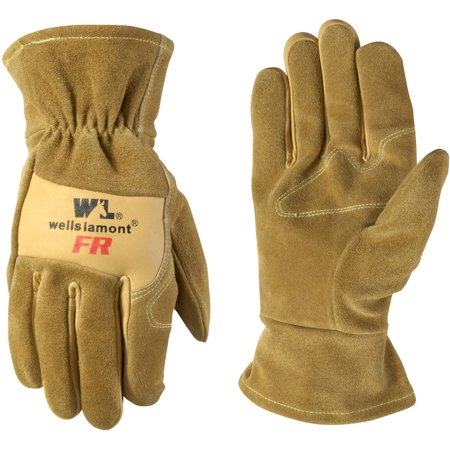 Flame Resistant Gloves - Cowhide Leather Flame Resistant Work Gloves, Tan