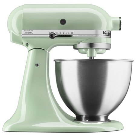 - KitchenAid Deluxe 4.5 Quart 10 Speed Tilt-Head Pistachio Stand Mixer (KSM88PT)