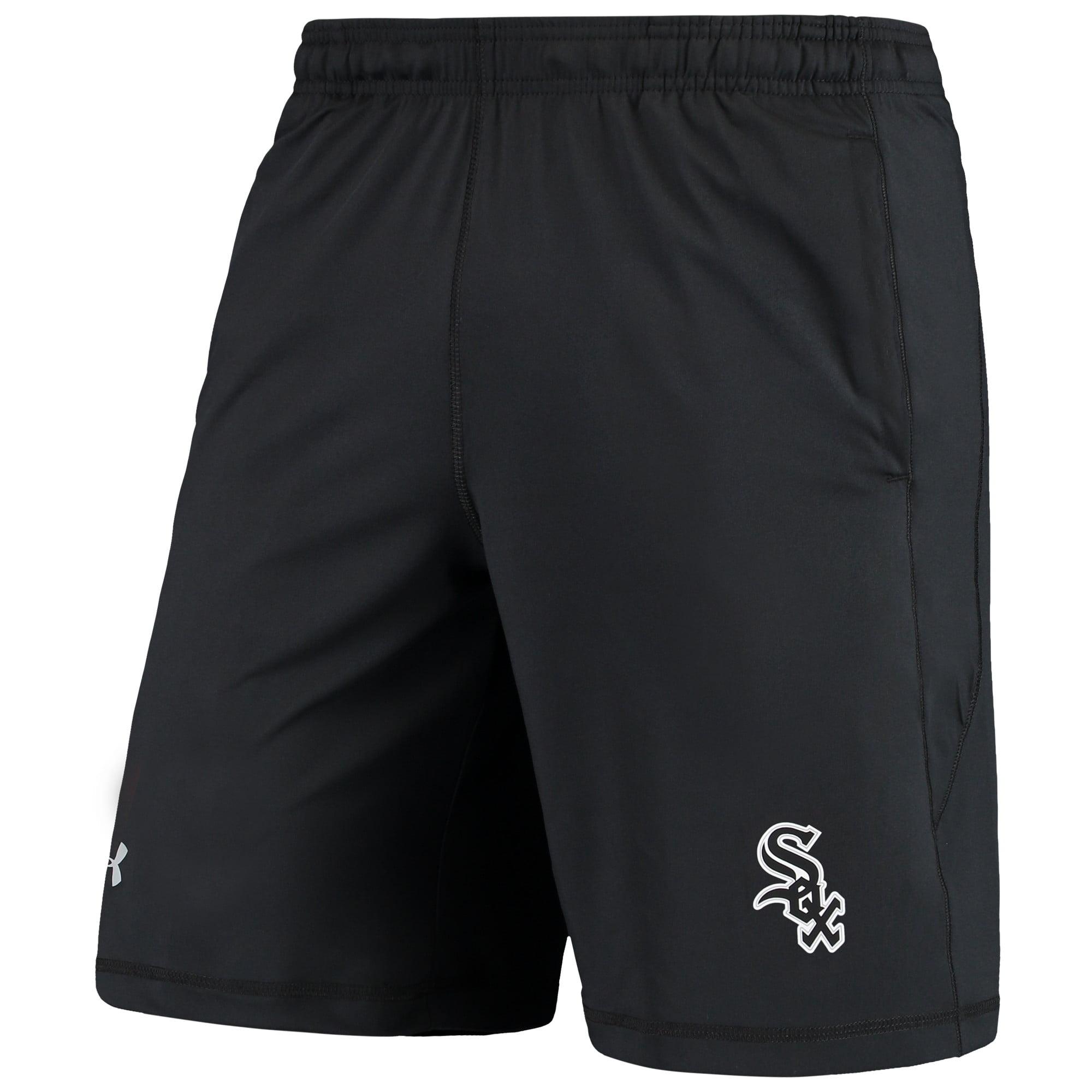 Chicago White Sox Under Armour Raid Left Leg Performance Shorts - Black