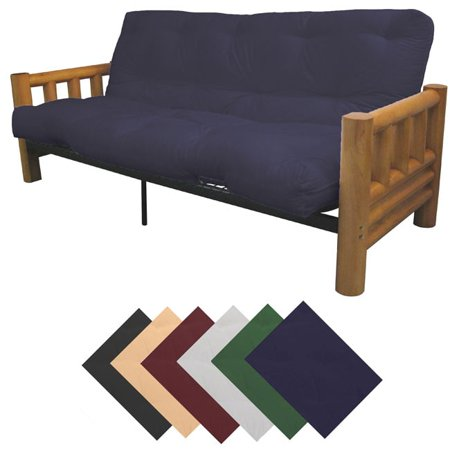 Epicfurnishings yosemite queen size rustic lodge frame for Queen futon bed walmart