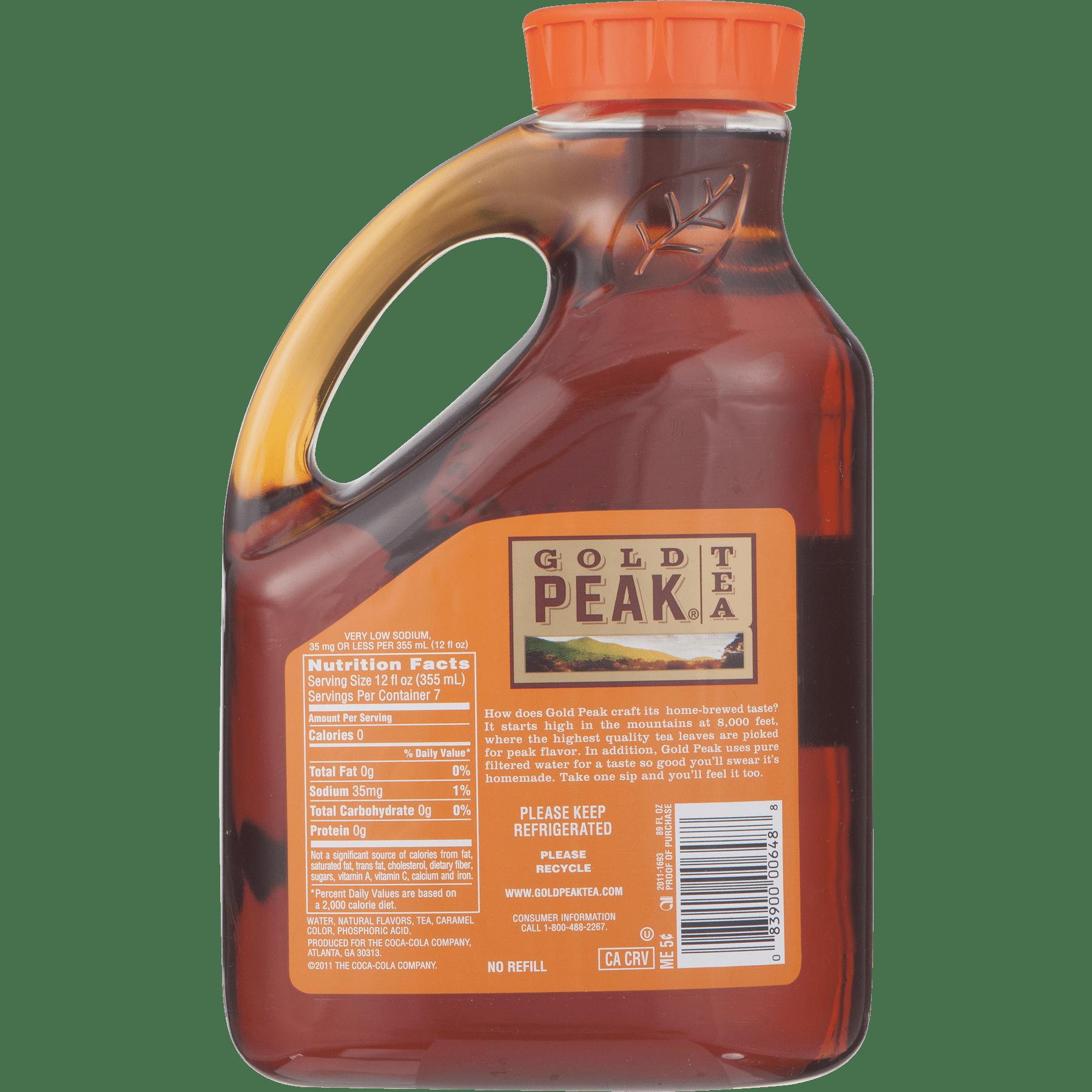 Gold Peak, Tea Unsweetened Iced Tea, 89