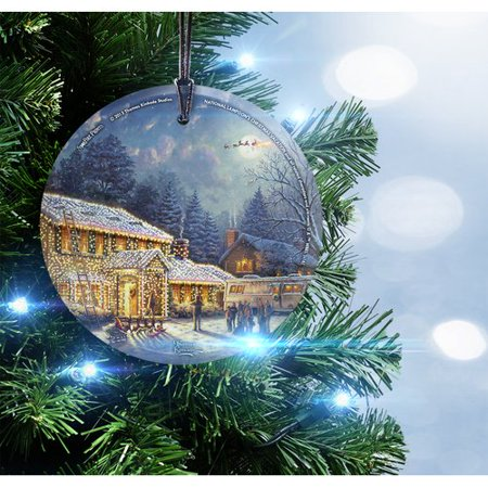 trend setters thomas kinkade national lampoons christmas vacation starfire prints glass hanging ornament