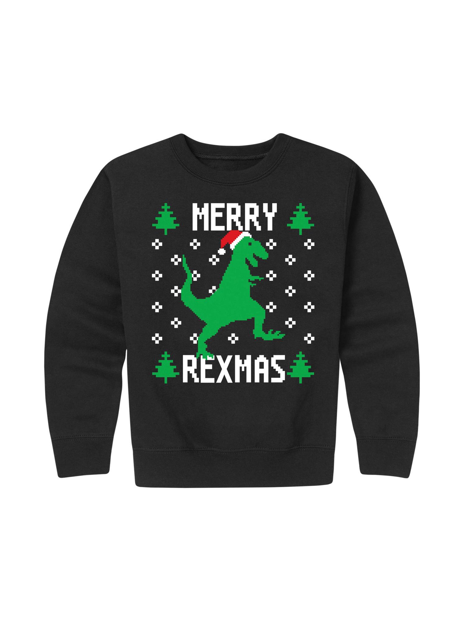 Merry Rexmas - Toddler Crew Fleece