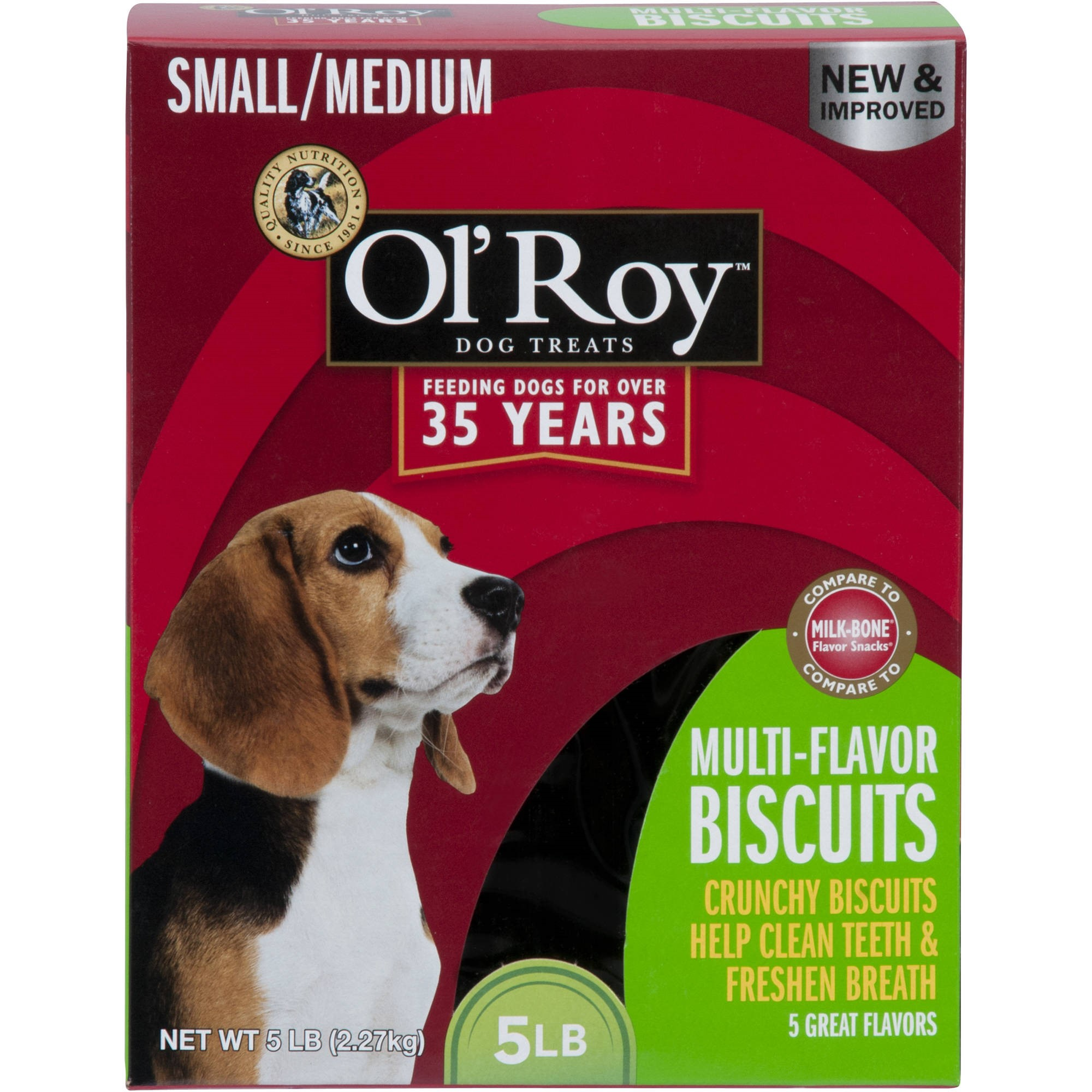 Ol' Roy Multi-Flavor Dog Biscuits, Small/Medium, 5 lb
