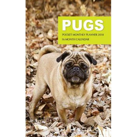 - Pugs Pocket Monthly Planner 2018: 16 Month Calendar (Paperback)