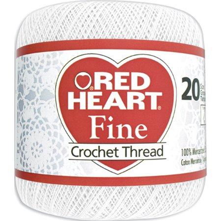 Red Heart Fine Crochet Thread Size 20 White Walmartcom