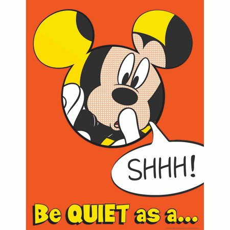MICKEY QUIET AS A MOUSE 17X22 POSTER - Mickey Mouse Poster